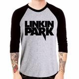 Camisa Linkin Park Rock Chester Bennington Camiseta 3/4 Mang