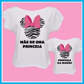 Kit Blusa Feminina Tal Mãe, Tal Filha, Minnie Zebra, Iguais