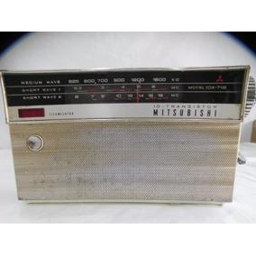 Radio Raro Antigo Mitsubishi 03 Faixas Mod. 10 X 718 *beta