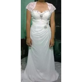 Vestido De Novia Sahara Talla 7 Blanco Nuevo