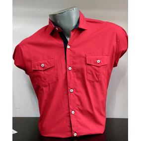 Camisa Hombre Rojo Corte Slim Fit