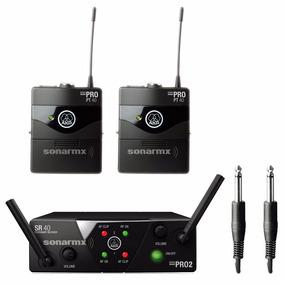 Akg Wms40 Dual Transmisor Inalámbrico Uhf Para Instrumentos