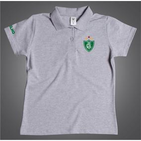 Camisa Gola Polo Feminina Do América Mineiro Torcedor Coelho