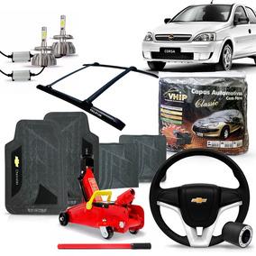 Kit Acessorios Corsa Hatch Volante Tapete Led Bagageiro E +