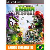 Plants Vs Zombies Garden Warfare Ps3 Código Psn - Português