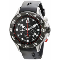 Relógio Nautica N17526g Masculino Aço Inox Modelo Grande
