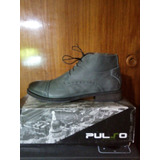 Zapato Marca Guante 100% Cuero Modelo Pulso Color Gris N° 44