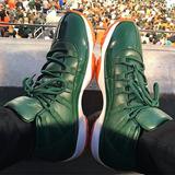 Tênis Nike Air Jordan 11 Xl Miami Hurricane Pe Lançamento Aj