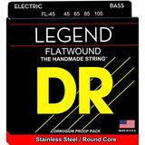 Dr Strings Flatwound Redondo De Acero Inoxidable Núcleo Bajo
