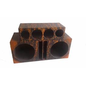 Caixa Duto Regua 2 Alto Falante 12 + 2 Corneta Mdf 15mm