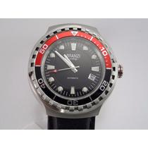 Reloj Branzi Caballero Automatico Tipo Buzo Correa Piel.