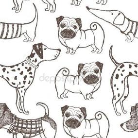 adesivo com desenho de cachorro pisos paredes e esquadrias