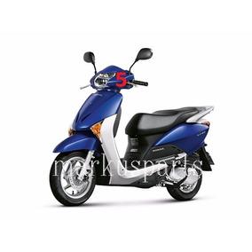 Carenagem 6 Lado Dir/esq - Lead Azul Fosco - Original Honda