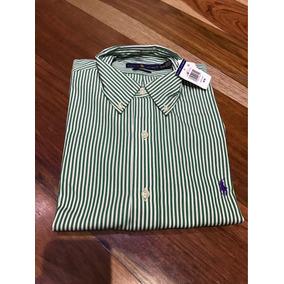 Camisa Ralph Lauren Para Hombre Color Verde/blanco