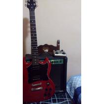 Guitarra Epiphone Sx Sg, Caixa Stagg E Pedaleira G1next