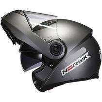 Capacete Norisk Ff370 Titanium Fosco C/ Óculos Solar Robocop