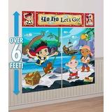 Escena Decoracion Fiesta Gigante Jake Y Los Piratas De Nunca