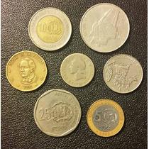 Lote X 7 Monedas República Dominicana. Usadas!!!!