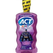 Act Niños Batman Ponche De Frutas Anticaries Fluoruro Enjuag