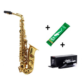 Kit Sax Alto Konig Laqueado + Boquilha Taigor M6 + Brinde