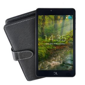 Kit Tablet Dl Futura, Tela De 7, 8gb + Capa Preta C/ Teclado