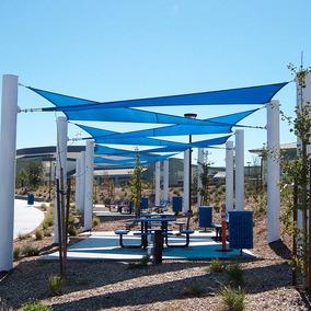 Tela Toldo Sombreamento Azul Shade Triangular 4,88 Metros