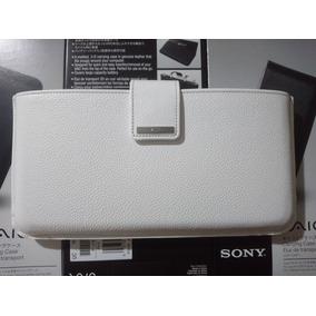 Estuche Funda De Piel Para Sony Vaio Pocket Lifestyle Blanca