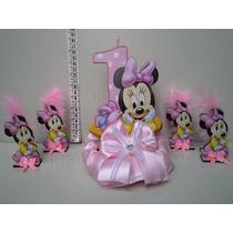 Promo 20 Souvenirs Minnie Bebe Primer Añito Mas El Central