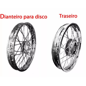 Roda Raiada Dianteira Disco + Traseira P/ Moto Titan Cg150