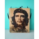 Cuadro De Madera Del Comandante Che Guevara Rústicos Vintage