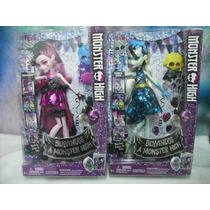 Monster High 2 Pzs Frankie Stein & Dracolaura ¡envio Gratis!