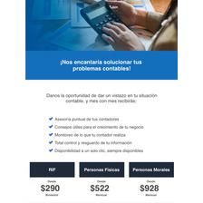 Servicio Contable Todo México Facturación Contador Web