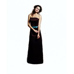 Lilasori Vestido De Fiesta Importado Color Cafe Talla 9 O 32