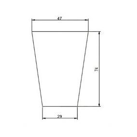 Vaso De Planta Em Polietileno Redondo 74x47cm