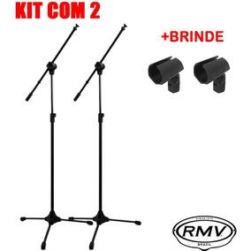 Kit C/2 Pedestal Para Microfone Rmv Psu0142 1,9 M + Cachimbo