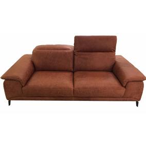 Sofa 3 Cuerpos En Cuero Camel, Rozen Home