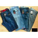 Kit /8 Bermudas Jeans Masculina Tamanhos Grandes E Pequenos