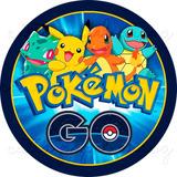Pokemon Go Papel De Arroz Redondo 20 Cm