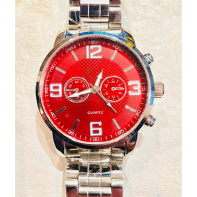 92123b3527a Relogio De Fundo Vermelho Ou - Relógios De Pulso no Mercado Livre Brasil