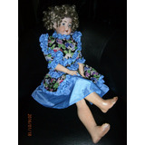 Muñeca En Porcelana Articulada Alemana Antigua