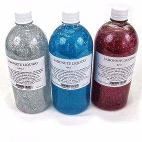Sabonete Liquido Com Glitter 1 Litro Varias Cores Com Aroma