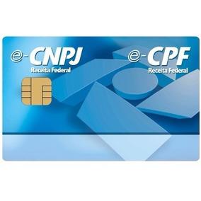Cartão Smart Card Token Certificado Digital E-cnpj E-cpf