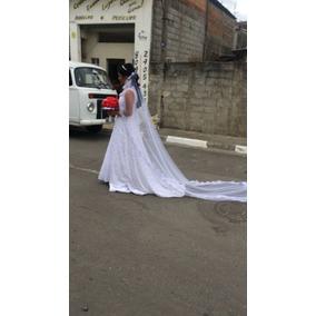 Vestido De Noiva Bordado Pedra Tam G.