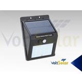 Lámpara Solar, Sensor De Luz Y Movimiento, 16 Led