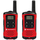 Motorola Talker T40 2 Way Walkie Talkie Radio - Black/red (p