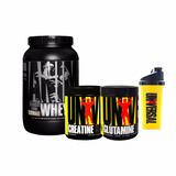 Animal Whey 2lb + Creatina + Glutamina + Vaso Universal