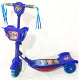 Patinete Infantil 3rodas Carros Mcqueen 2 Luz Musical