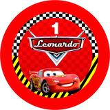 100 Toppers Personalizados - Tema Carros Disney + 20 Grátis