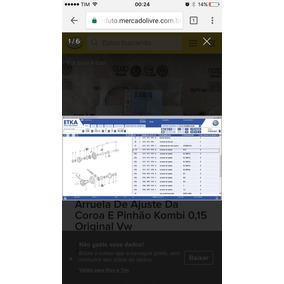 Arruela De Ajuste Da Coroa E Pinhão Kombi 0,15 Original Vw