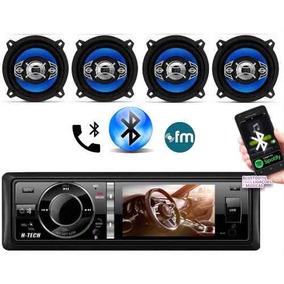 Dvd Som Bluetooth Htech Atende Ligacao + 4 Alto Falantes 5